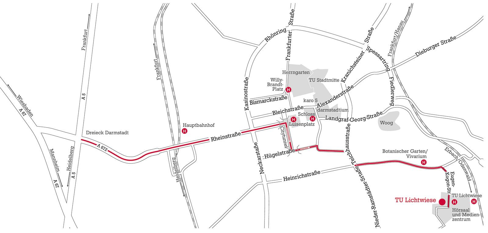 How to get to TU Darmstadt Technische Universitt Darmstadt