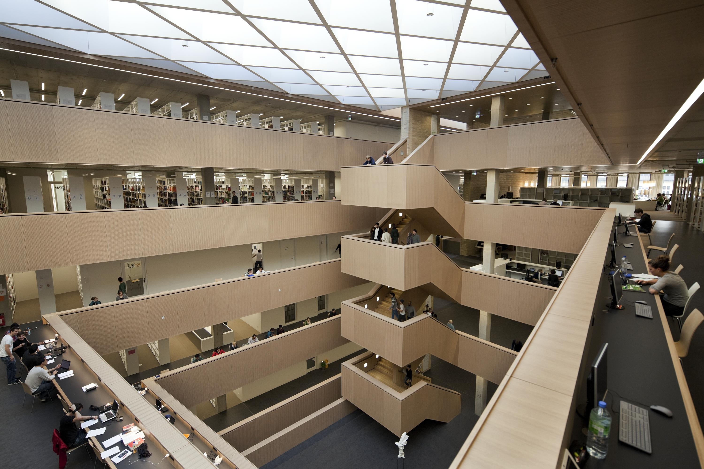 die innenarchitektur der universitäts- und landesbibliothek der tu, Innenarchitektur ideen